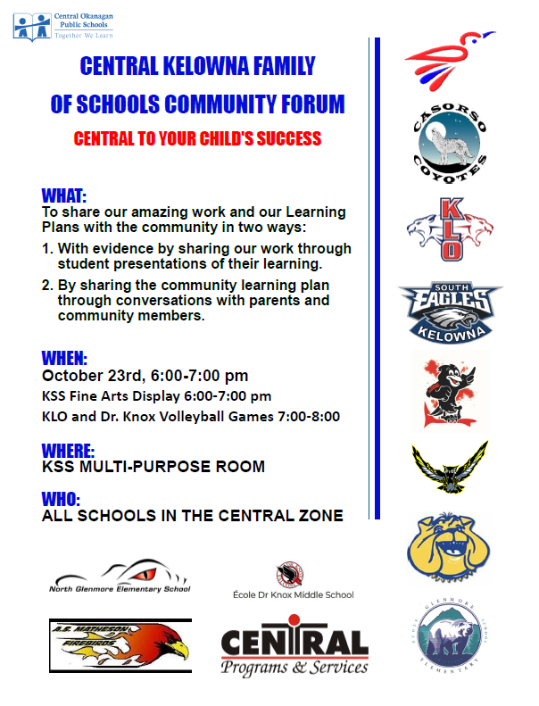Central Kelowna Family of School Community Forum