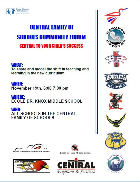 Join us at the Central Family of Schools Forum!
