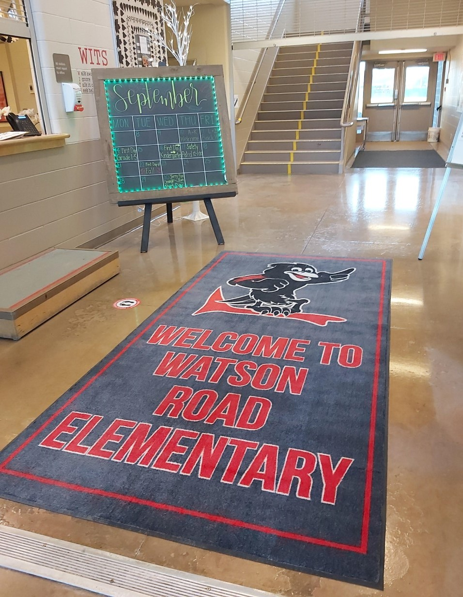 Thank you to our PAC for the wonderful new 'Welcome Mat' at our front door!