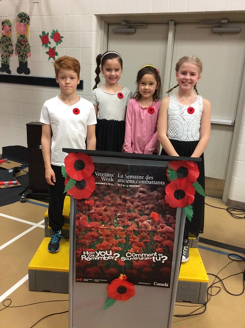 Thank you to our emcees at our Remembrance Day Assembly...