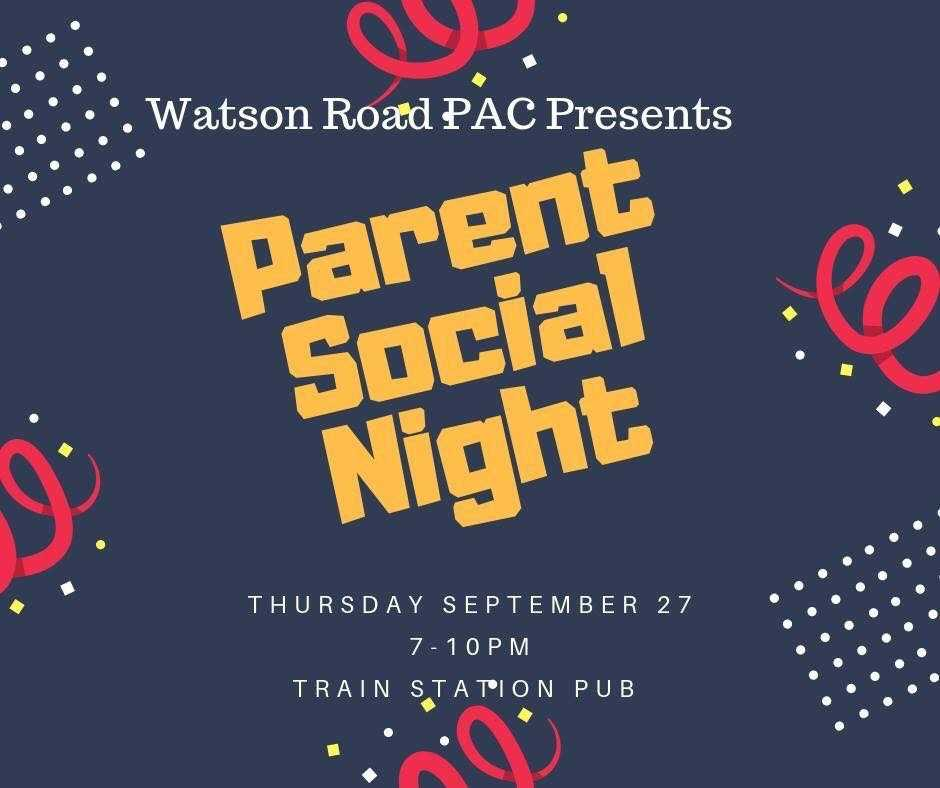 Parent Social Night - this Thursday!