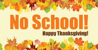October 8th is Thanksgiving Day - School Not in Session